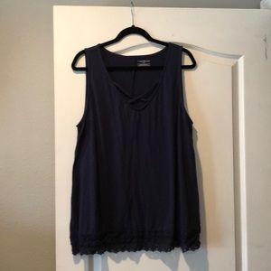 Lane Bryant Navy Blue sleeveless top